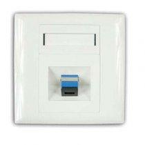 Priza perete 1 adaptor simplex SC/UPC TriBrer, echipata