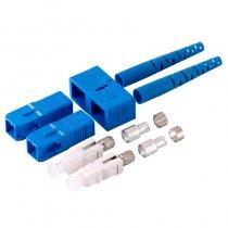 Conector SC/UPC Duplex Single Mode pentru cablu cu diametru de 3mm Albastru Mills