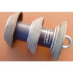 Parasuta din piele pentru lansare sufa de tragere in tevi Lancier cu diametrul intern de 94 - 102mm