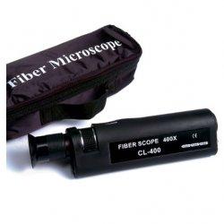 Microscop conectori fibra optica 400x Mills