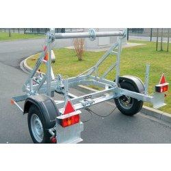 Remorca transport tamburi Lancier cu greutate maxima de 1000kg si diametrul intre 1100 si 1900mm