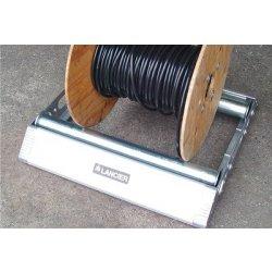 Suport din aluminiu pentru tamburi Lancier cu greutate maxima de 140kg si diametrul de pana la 1200mm