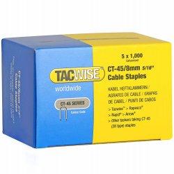 Capse Tacwise CT-45/8 8mm cutie de 5000bucati (5 x 1000) Galvanizate