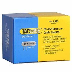 Capse Tacwise CT-45/10 10mm cutie de 5000bucati (5 x 1000) Galvanizate