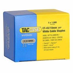 Capse Tacwise CT-45/10 10mm cutie de 5000bucati (5 x 1000) albe