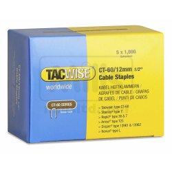 Capse Tacwise CT-60/12 12mm cutie de 5000bucati (5 x 1000) Galvanizate