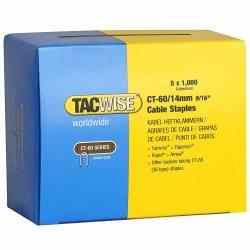 Capse Tacwise CT-60/14 14mm cutie de 5000bucati (5 x 1000) Galvanizate