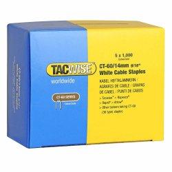 Capse Tacwise CT-60/14 14mm cutie de 5000bucati (5 x 1000) albe