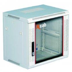 Cabinet rack de perete 12U Xcab, 600mm x 600mm, montare pe perete, usa fata sticla