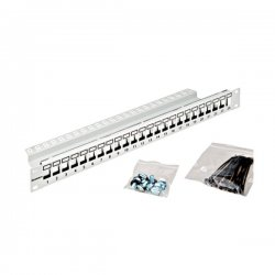 Patch panel modular 24 module RJ45 TOOLLESS, Schrack