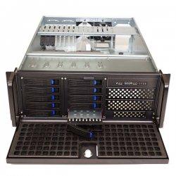 """Carcasa rack Xcab, storage - dimensiuni:19""""/4U/600mm, 2x5.25"""", 10x3.5"""", fara sursa"""