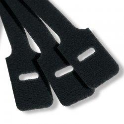 Cravate negre de cablu 13 x 230mm velcro Mills