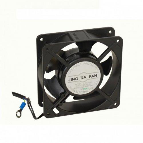 COOLER 12cm Xcab, 3,80cm grosime, 220/240V , 0,05/0,06A, 50/60Hz, carcasa metalica, include cablul de alimentare.