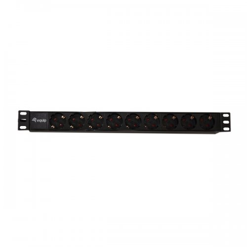 "Priza de rack PDU 19""/ 1u Xcab, 9 posturi SCHUKO , 16A/250v, MAX. 3500W, cablu 1,80m."