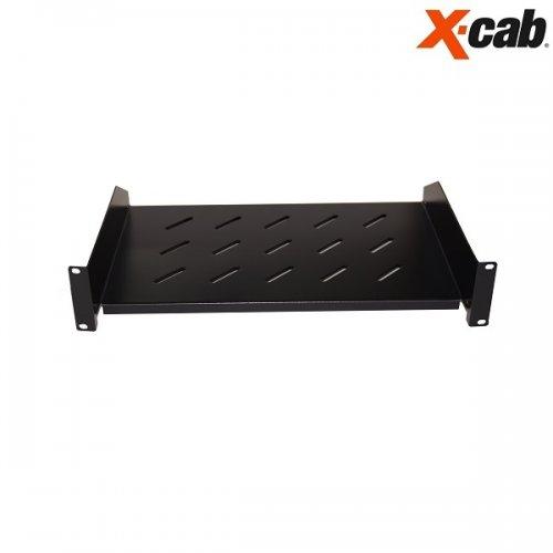 Raft fix Xcab, pentru rack de perete 450mm, 2U, adancime utila 300mm