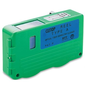 Caseta curatare conectori optici Cletop A, banda albastra