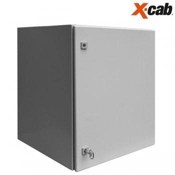 Cabinet rack metalic de exterior 15U Xcab, 600mm x 600mm, IP-55, montare pe perete