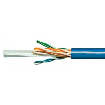 Cablu cat 6 UTP, 300MHz, manta LS0H albastra, Schrack