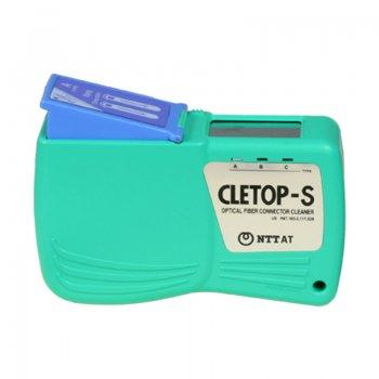 Caseta curatare conectori optici Cletop S-A, banda albastra