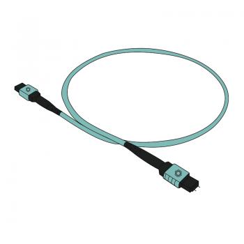 Patch cord MPO-MPO mama-tata premium AFL Hyperscale 12f OM4 tip B 1m