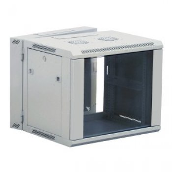 Cabinet rack de perete 12U Xcab, 600mm x 600mm, usa fata sticla securizata, montare pe perete