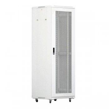 Cabinet rack de podea 27U Xcab, 600mm x 800mm, usa fata sticla fumurie, usa spate metal plin