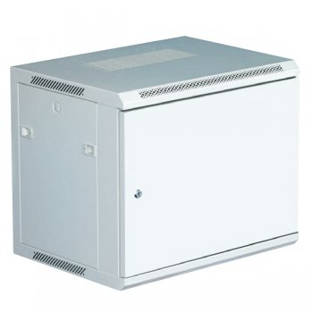Cabinet rack de perete 12U Xcab, 600mm x 600mm, usa fata metal plin, montare pe perete