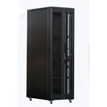Cabinet rack de podea 42U Xcab, 800mm x 1000mm, usa fata metal perforat, usa spate metal perforat dubla sectiune