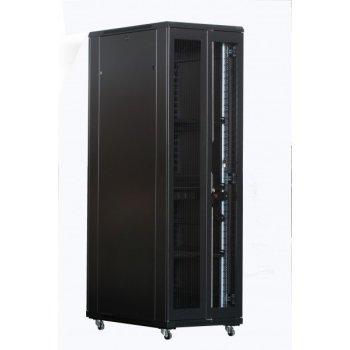 Cabinet rack de podea 42U Xcab, 800mm x 1000mm, usa fata metal perforat, usa spate metal perforat dubla sectiune