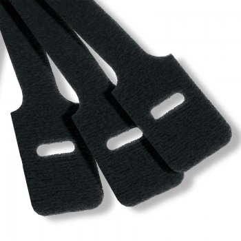 Cravate Velcro Mills, culoare neagra, latime 13mm, lungime 230mm (set 100 buc)