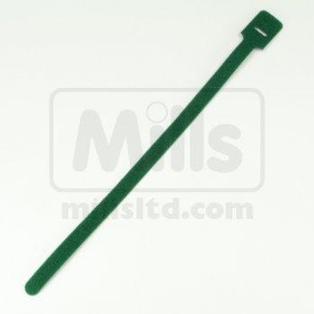 Cravate Velcro Mills, culoare verde, latime 13mm, lungime 330mm (set 100 buc)