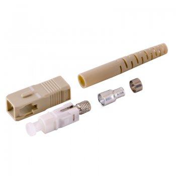 Conector SC/UPC MM pentru cablu cu diametru de 3mm Bej Mills