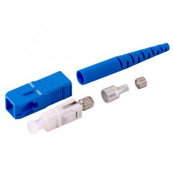 Conector SC/UPC Single Mode pentru cablu cu diametru de 3mm Albastru Mills
