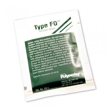 Servetele cu alcool pentru curatare fibra optica si conectori, Polywater