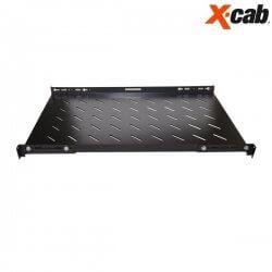 Sertar fix pentru rack 600mm adancime Xcab, cu montare pe toti cei 4 stalpi, L, negru, 1U